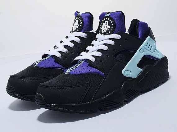 womens nike air huarache black purple