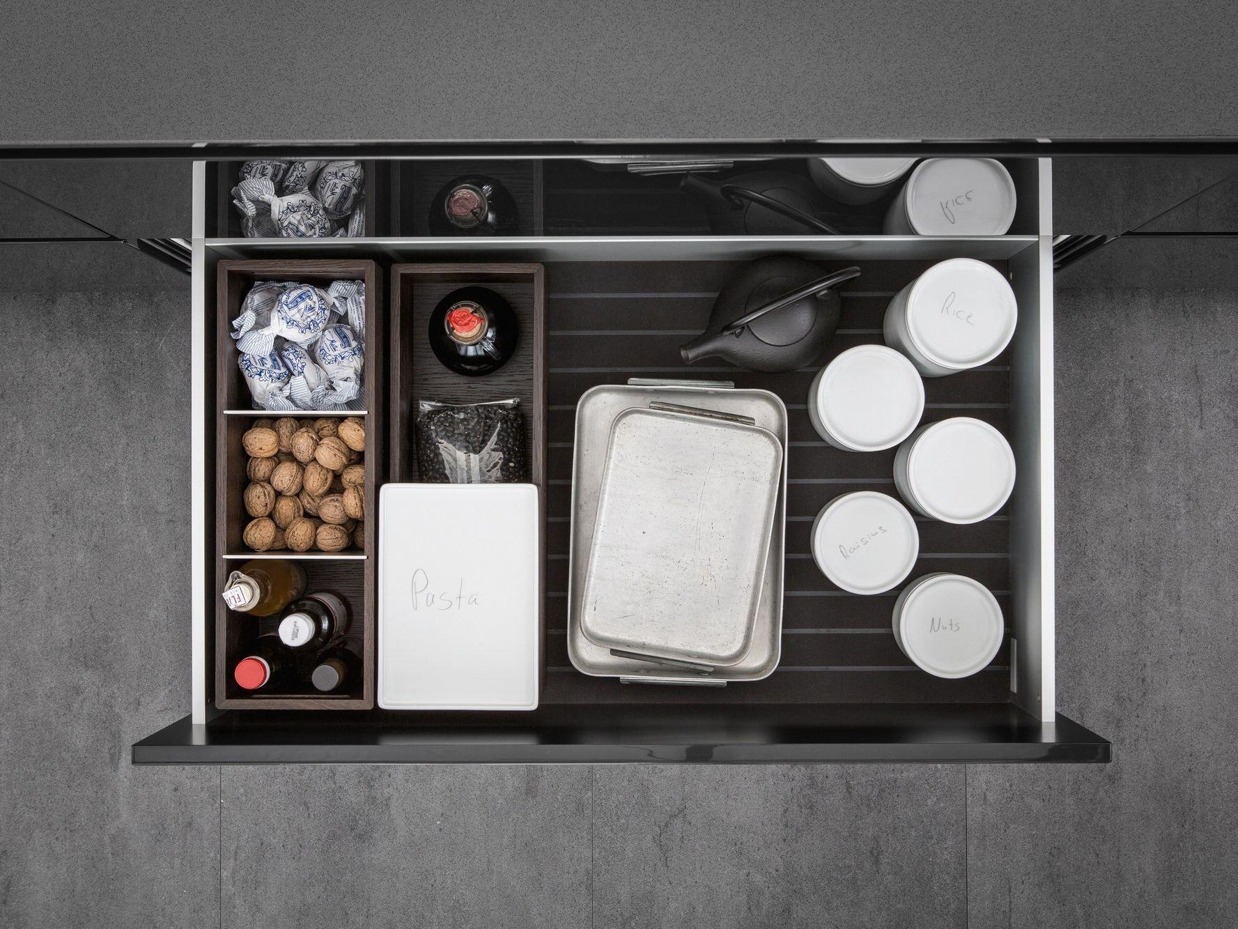 厨房配件 sliding drawer system by siematic aluminium kitchen interior accessories wooden kitchen on kitchen interior accessories id=87427