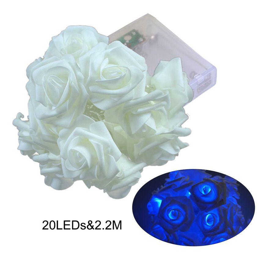Guirlande De Lampes 20Leds, Decoration De Lumieres De Noel, 2.2M, Bleu – ASUPERMALL