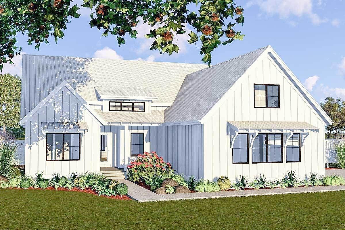 Plan 62738dj One Story 3 Bed Modern Farmhouse Plan Modern Farmhouse Plans House Plans Farmhouse Small Farmhouse Plans