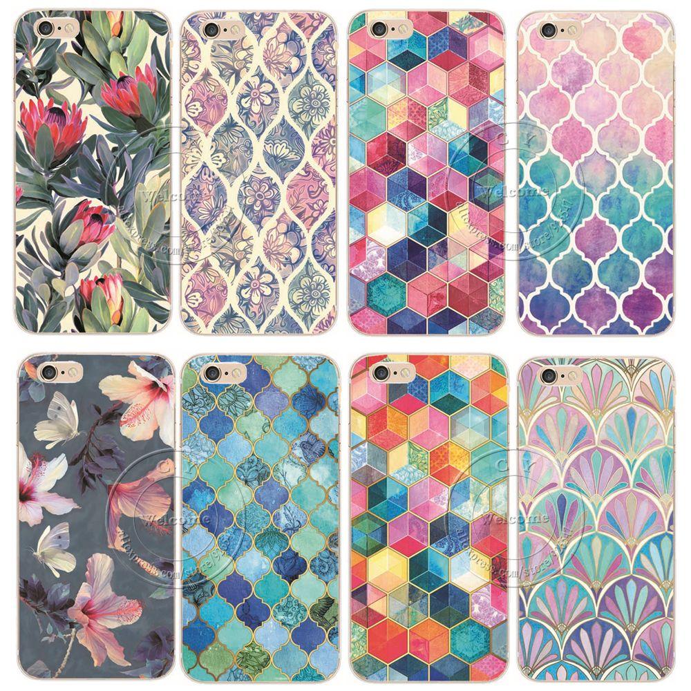 """2015 nuovo modo di arrivo 21 stili fiori dipinti posteriore dura di plastica della copertura di caso per apple iphone 6 6 s 4.7"""""""