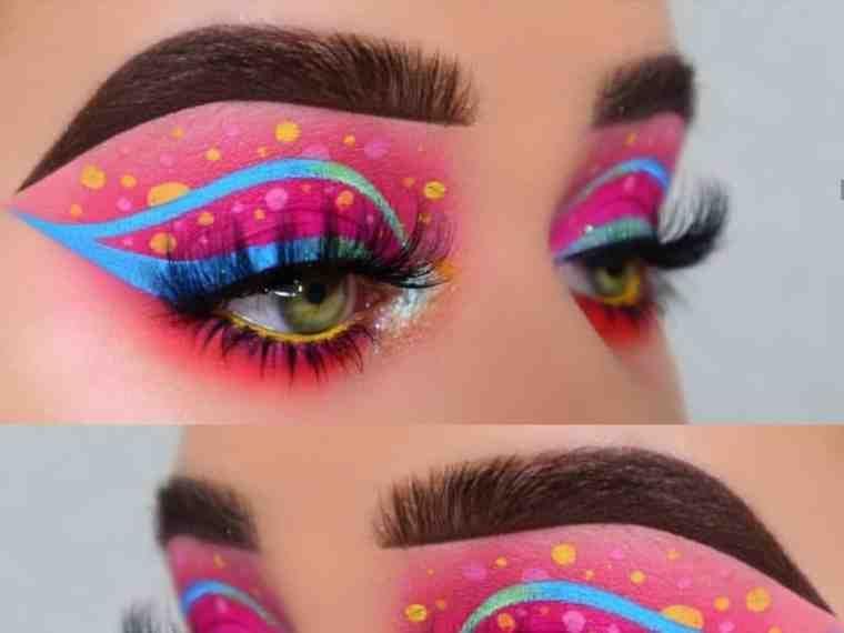 مكياج عيون غريب بنات صورة ٢ Makeup Inspiration Eye Makeup Face Makeup