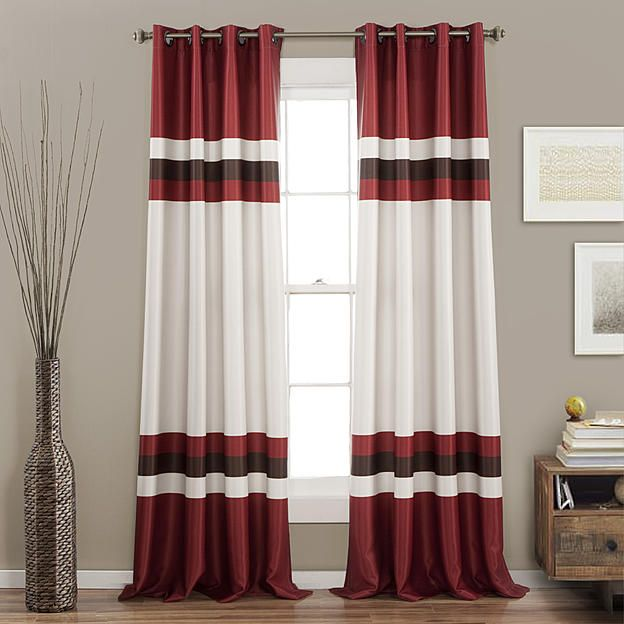 Sears Com Striped Room Red Curtains Living Room Red Curtains #sears #curtains #for #living #room