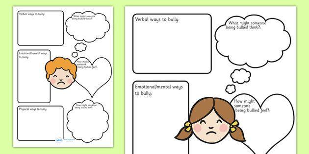 Bullying Worksheets bullying bully good behaviour behaviour – Bullying Worksheets