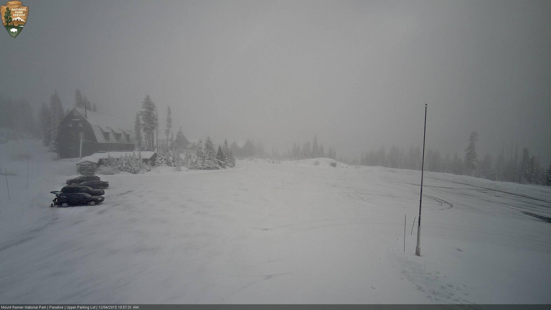 Mt Rainier NP Dec. 4, 2015 Looking east over the parking