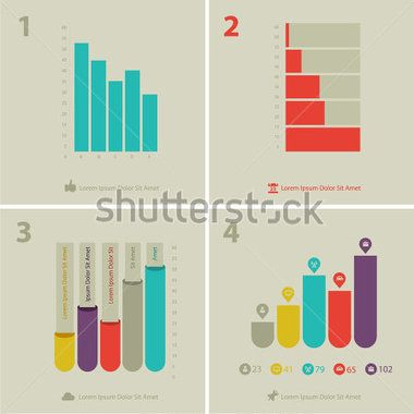Chart PSD Template Set, Vector File - Clipartme charts - graph chart templates