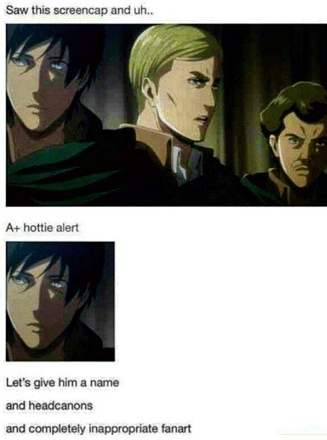 Hot Background Character In The Survey Corps Attack On Titan Anime Funny Anime