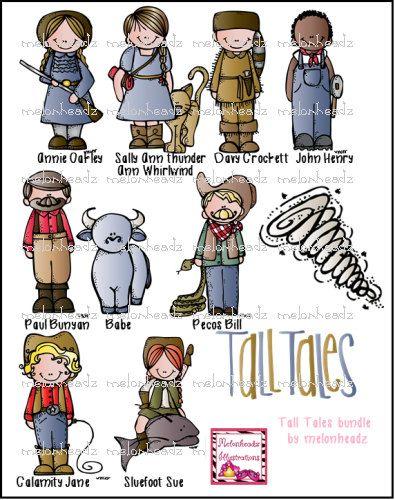 Tall Tales Clip Art Etsy Tall Tales Melonheadz Book Genres