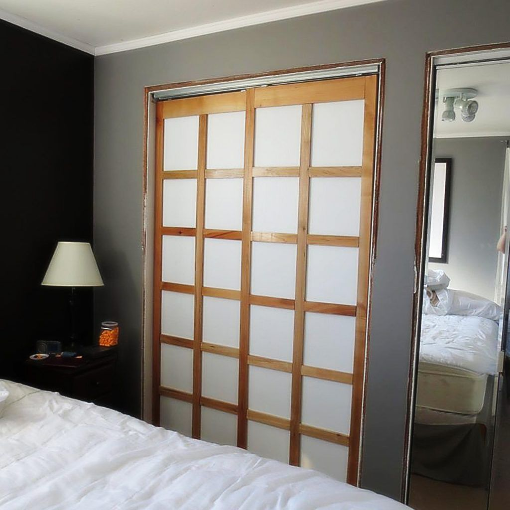 Awesome Asian Inspired Sliding Closet Doors
