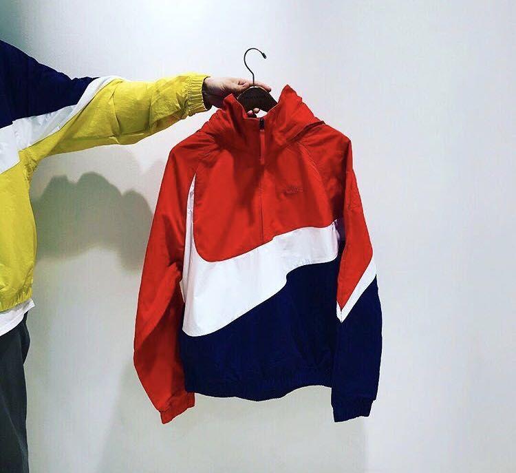 Image Result For Nike Big Swoosh Jacket Red