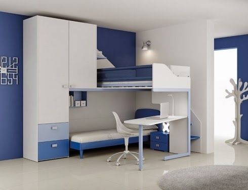 Habitaci n azul para dos ni os habitaci n de ni os - Habitacion para dos ninos ...