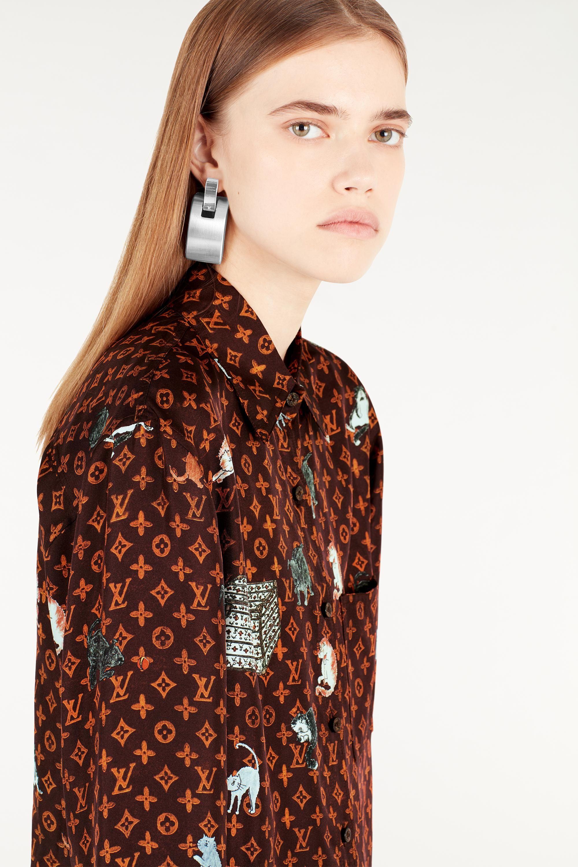 a27e29d09b Catogram motif Printed Longsleeve Shirt in Women's Ready to Wear ...