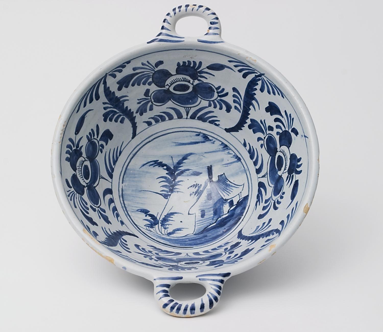 A Dutch Delft Blue and White Porringer. 1740-1750, Delft,The Netherlands.