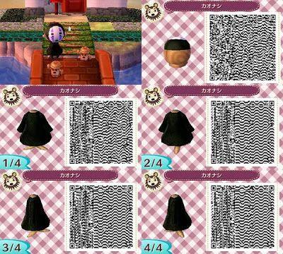Animal Crossing: New Leaf: No Face Studio Ghibli QR Code | ac