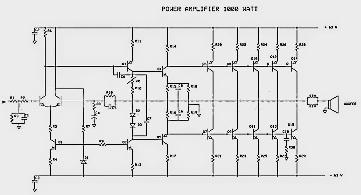 1000W Power Amplifier ~ Audio Amplifier Circuits