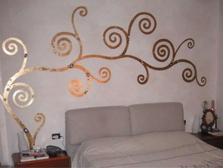 Parete Doro : Decorazione pareti con foglia doro casa pinterest decorare le