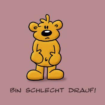 Bin schlecht drauf! | Bären | Cute bears, Quotes und Winnie the Pooh