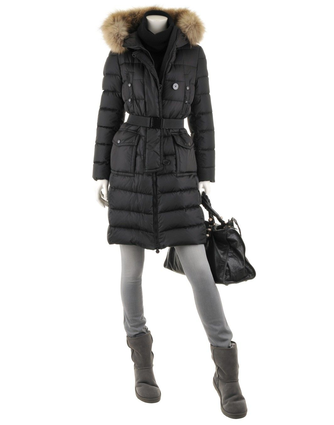 moncler womens genevrier black coat