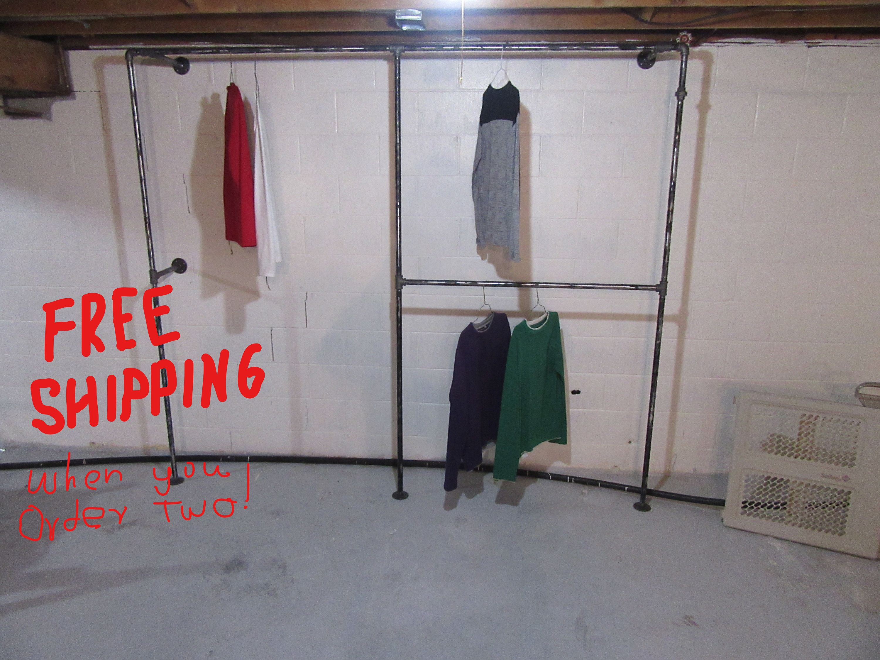 industrial j space pin display crew garment racks pinterest rack rolling