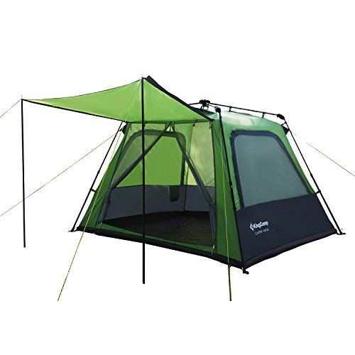 Check Price KingCamp Easy Up Tent For Family Camping Four Person Sale