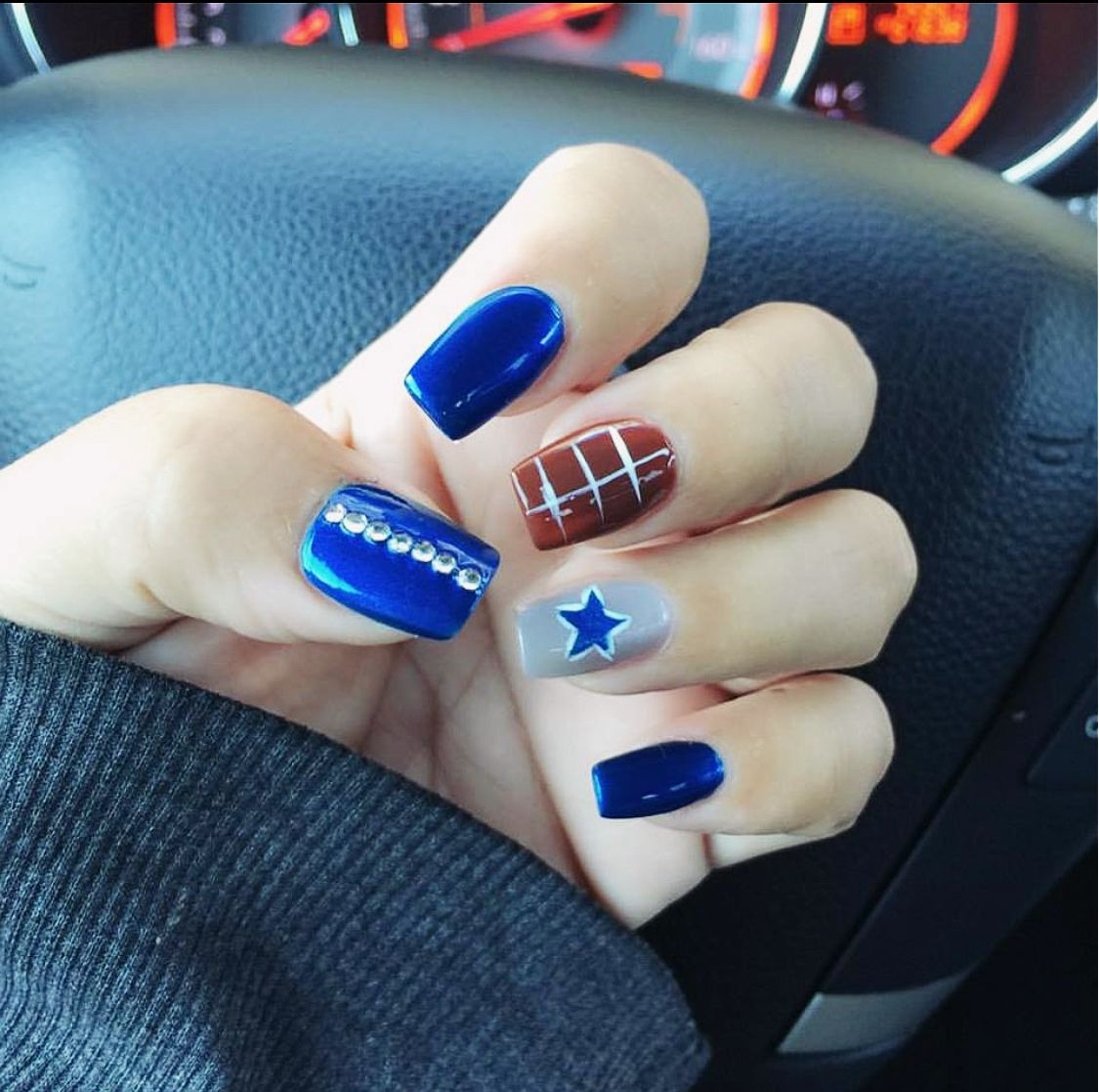 Dallas Cowboys Nails! | Dallas Cowboys Stuff | Pinterest | Dallas ...