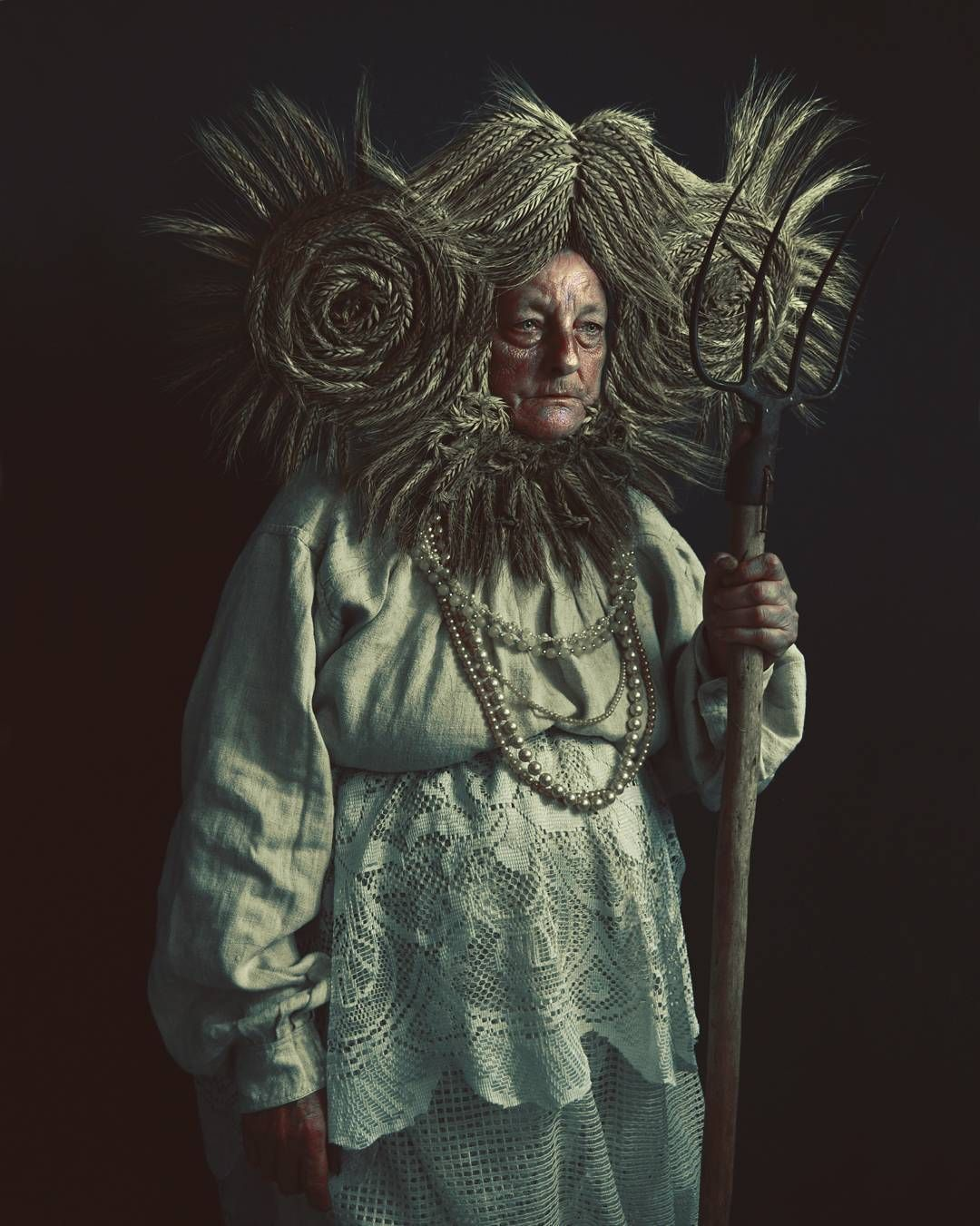 """Marcin Nagraba on Instagram: """"My fav from 'Rye Harvest' series, summer 2017. My Dear mother as a model, photo/costume by me. Available as a print more info DM. #photo…"""""""
