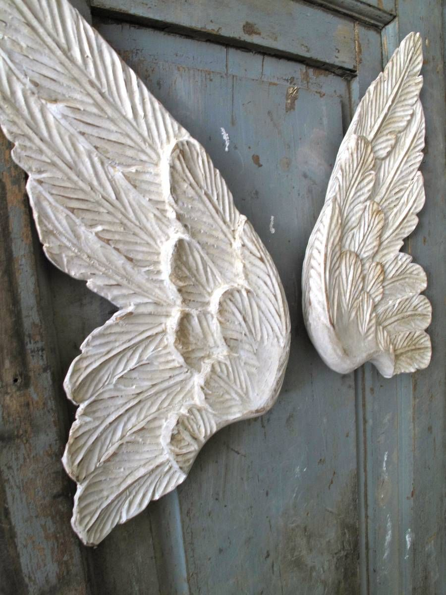 French Antiques Italian Wooden Angel Wings Wooden