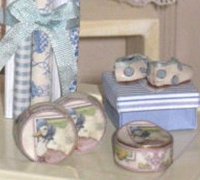 Jemima Puddle-Duck tins of cream for the dollhouse baby