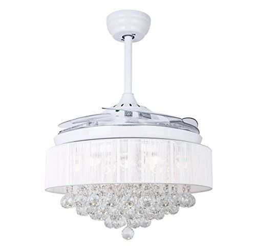 Hall Of Lamp White Ceiling Fans With Remote Control 42 In Https Www Amazon Com Dp B071nvyzx8 Ref Modern Ceiling Fan Ceiling Fan Chandelier Chandelier Fan