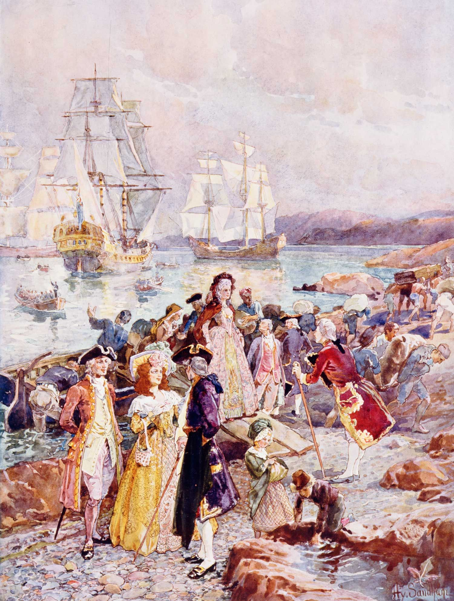 Henry Sandham The Coming Of The Loyalists