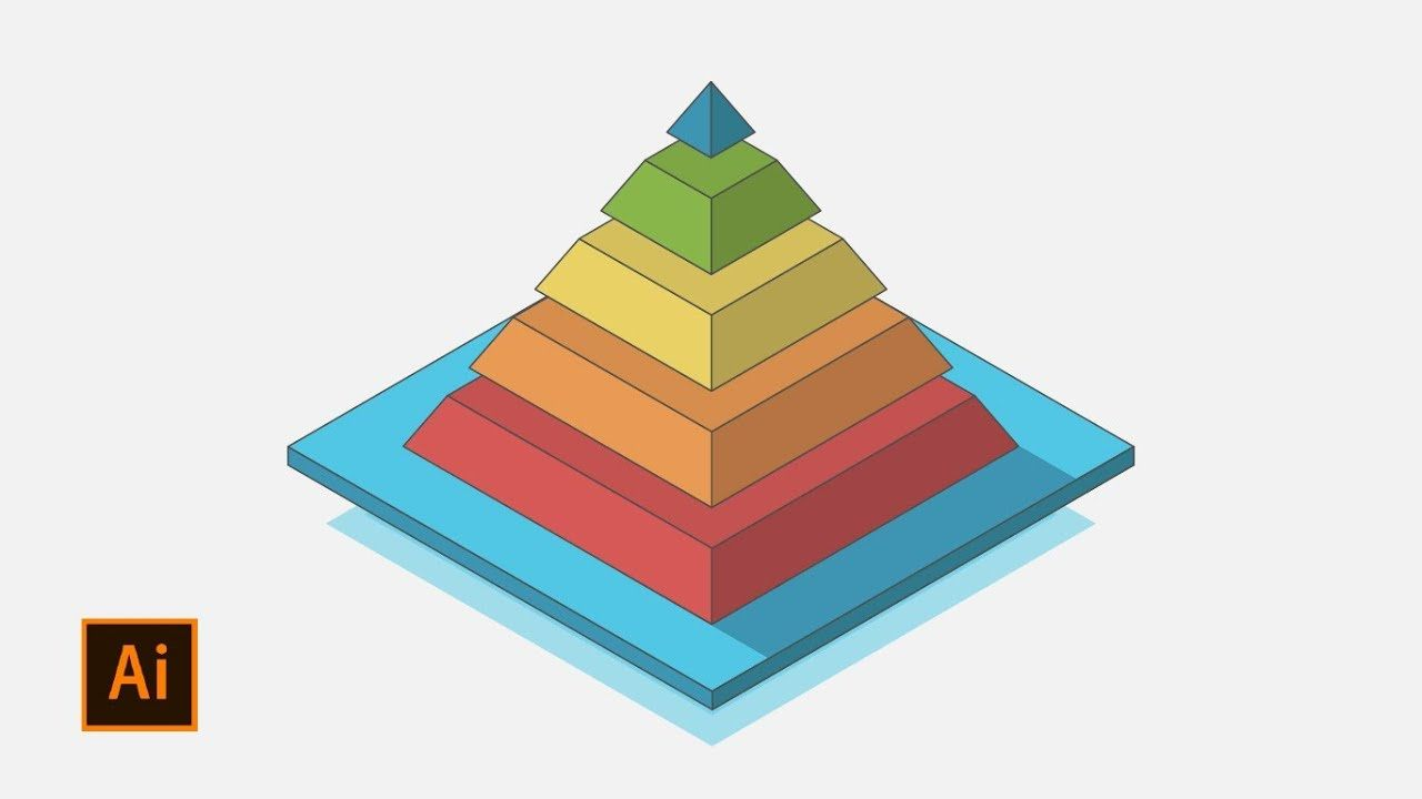 How To Make 3d Pyramid In Adobe Illustrator Adobe Illustrator Graphic Design Adobe Illustrator Illustration