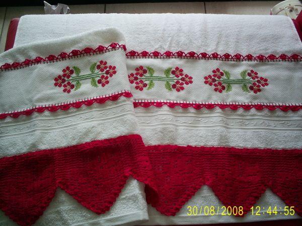 toalhas de banho bordadas 7