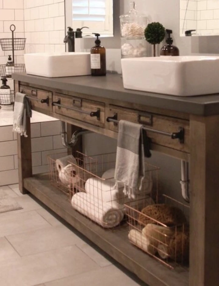 Bathroom Vanity 17 In 2020 Wooden Bathroom Vanity Wood Vanity
