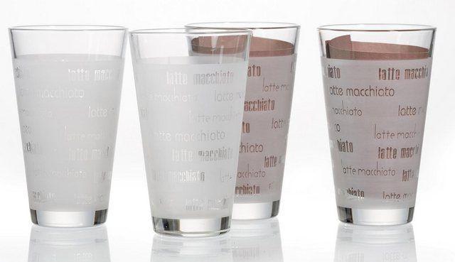 Latte-Macchiato-Glas »Chicco« (4-tlg), Schrift-Dekor #lattemacchiato Latte-Macchiato-Glas »Chicco« (4-tlg), Schrift-Dekor #lattemacchiato Latte-Macchiato-Glas »Chicco« (4-tlg), Schrift-Dekor #lattemacchiato Latte-Macchiato-Glas »Chicco« (4-tlg), Schrift-Dekor #lattemacchiato
