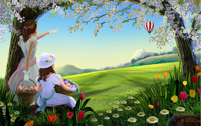 Girls Anime Fantasy Balloon Flower Blossom Easter Wallpaper 2880x1800 74690 In 2020 Best Friend Love True Best Friend Quotes Best Friend Quotes