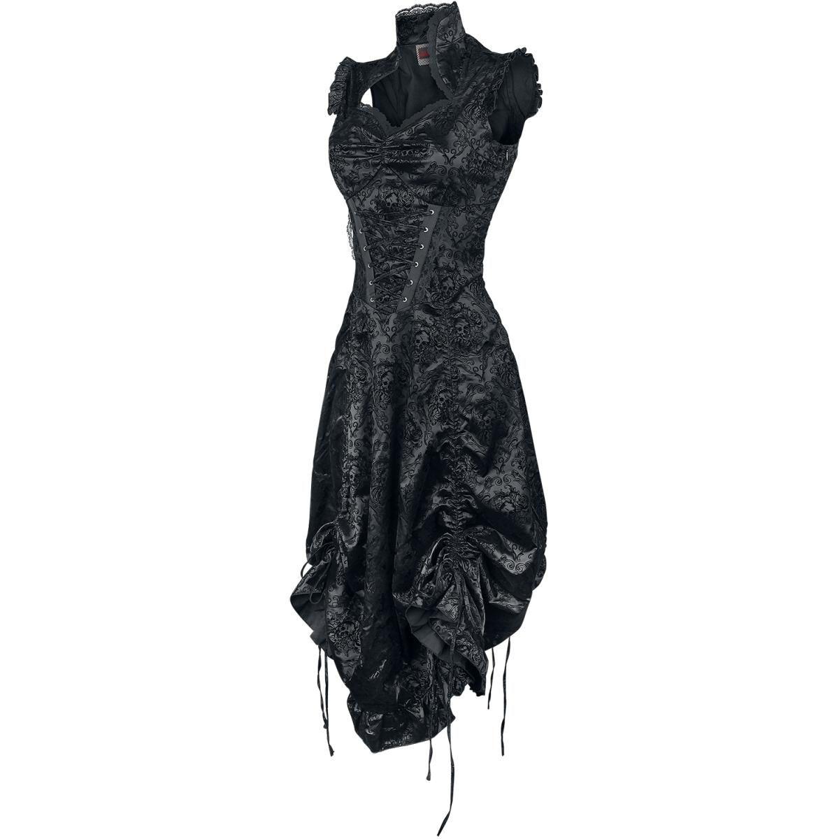 de jurk kan worden geplooid aan de onderkant door banden