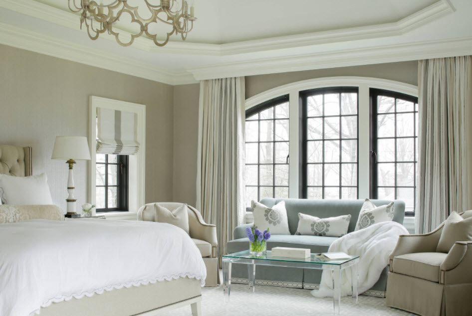 Gemutliches Schlafzimmer Interieur In Zwei Farben Aktuelle Ideen