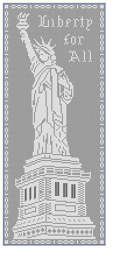 The Statue of Liberty in Filet-Crochet by Mary Card. … | Fillet C…