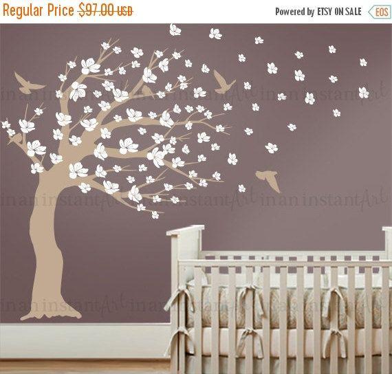 Weht Kirschblüten Baum Wall Decal Blossom Baum von InAnInstantArt