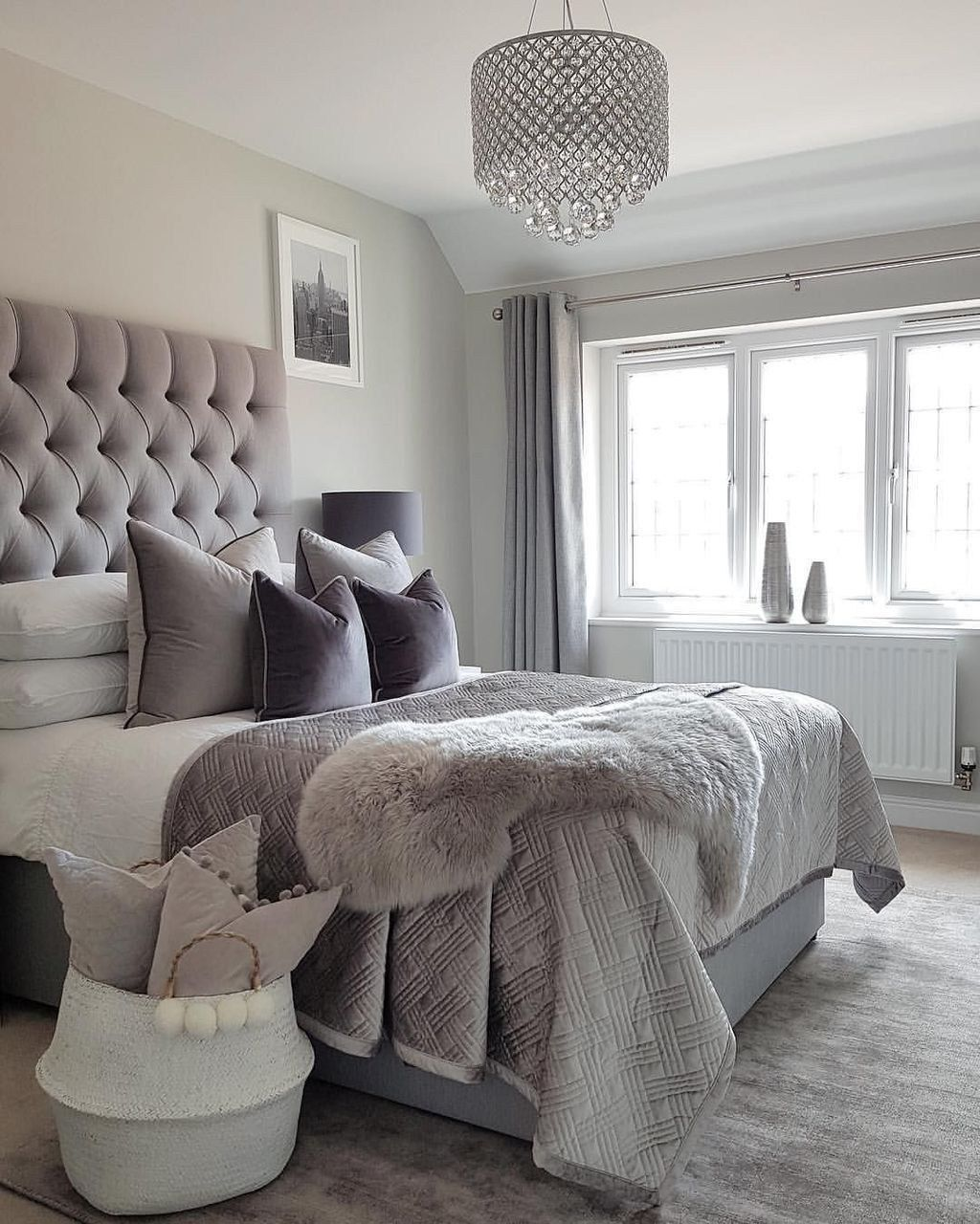 Elegant Romantic Bedrooms: Elegant Bedroom Ideas Master Romantic Grey Fy Master