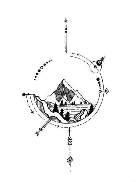Tattoo Nature Mountain Ink 20 Ideas