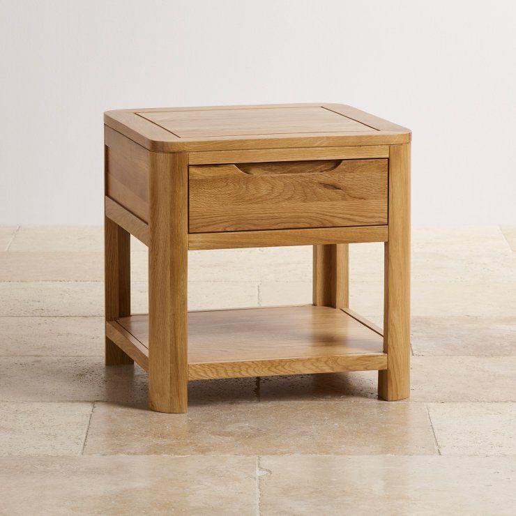 Oak Side Table With Drawer Romsey Oak Furnitureland Meja Kopi Rak Meja