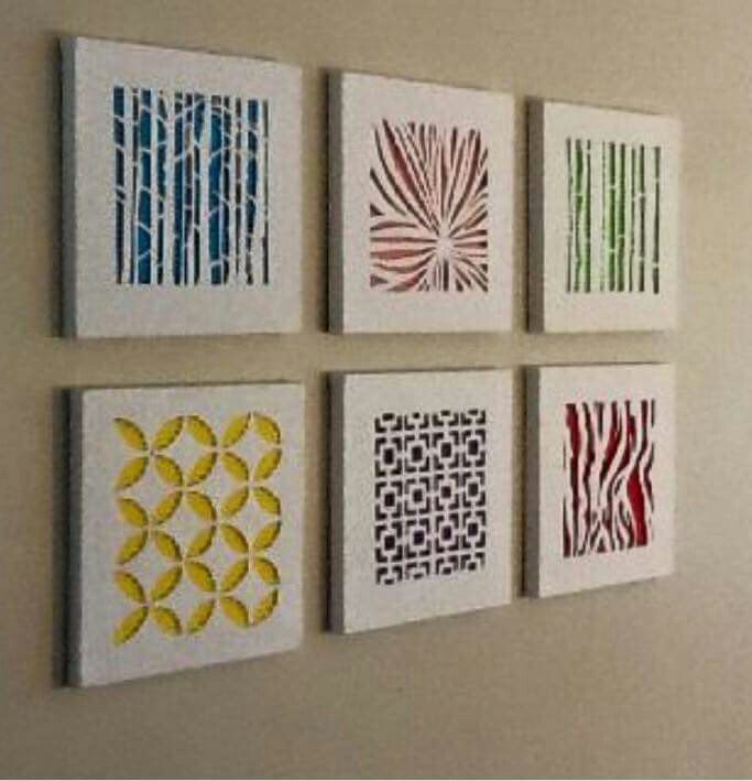 color blocking behind canvas | Crafts - Wall Decor | Pinterest ...