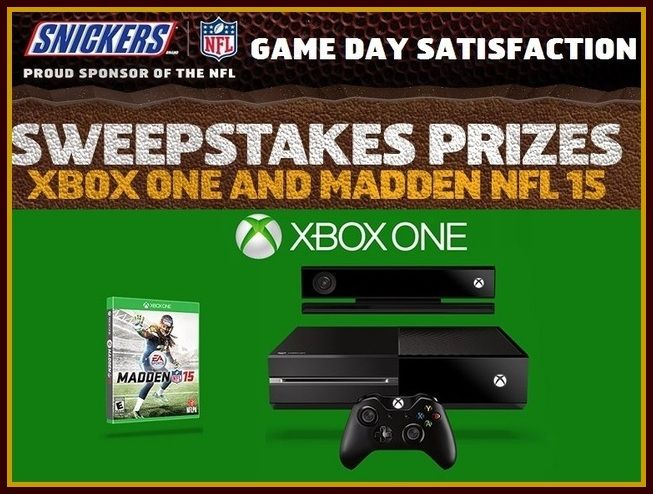 Snickers game day sweepstakes