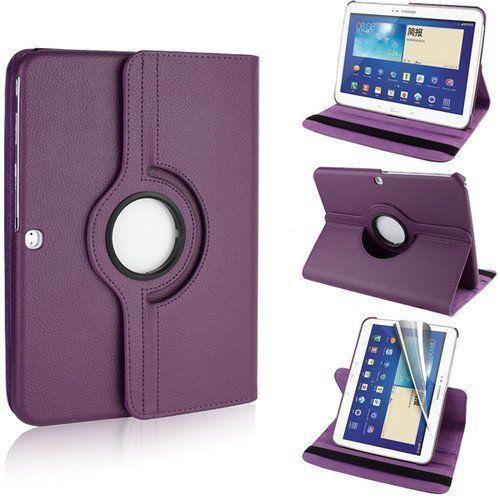 Collection&Joy 3en1:FUNDA DE CUERO 360º Premium para Samsung Galaxy Tab 3 10.1 P5200 / P5210 / P5220 con una práctica función de soporte + Lámina transparente + Stylus (Samsung Galaxy Tab 3 10.1 P5200, Púrpura) de Collection&Joy, http://www.amazon.es/dp/B00IWK37Y6/ref=cm_sw_r_pi_dp_Twfqtb1HJQEFK