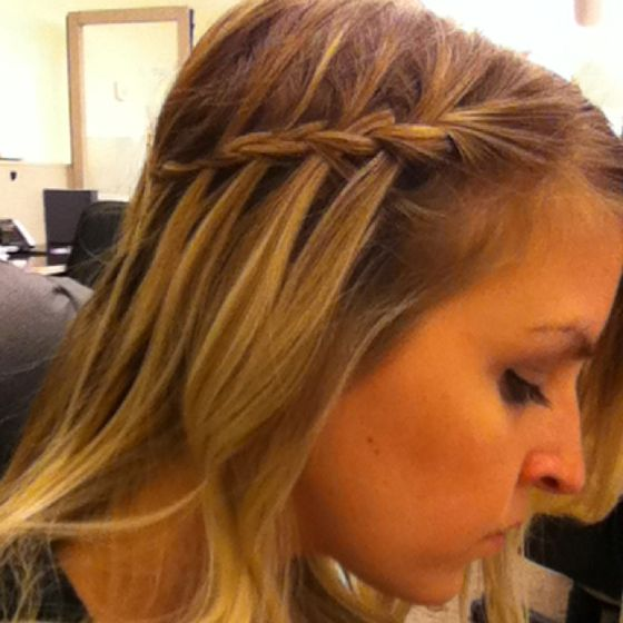 Thin hair waterfall braid | Hair obsessed. | Pinterest ...