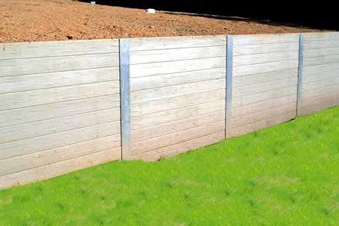 Concrib concrete sleeper retaining wall system Garden
