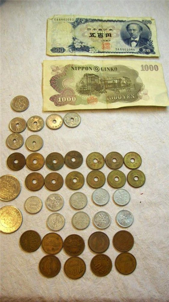 Japanese currency coin vintage 1960s or 1980s yen NIPPON GINKO ...
