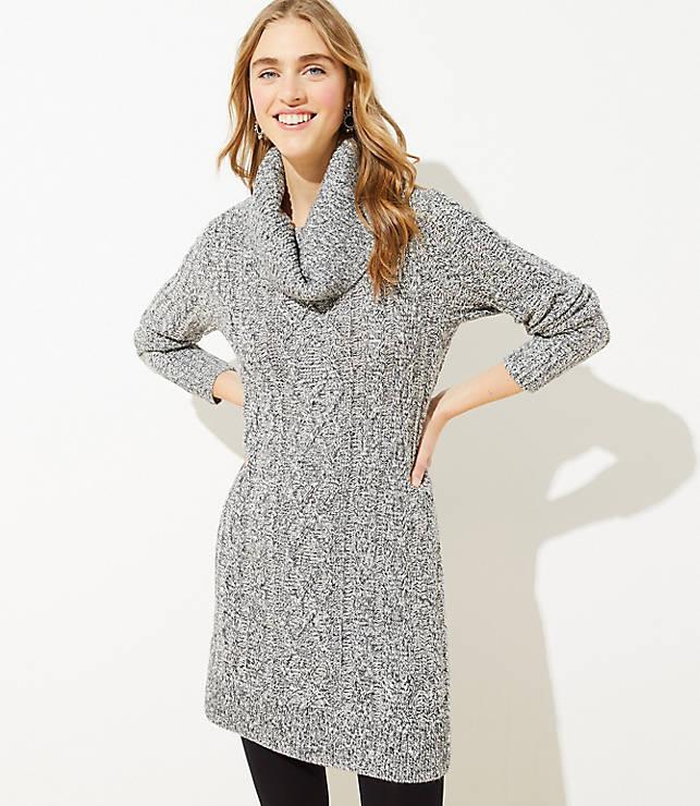 Marled Cable Sweater Dress Loft Cable Sweater Dress Dresses Stylish Women