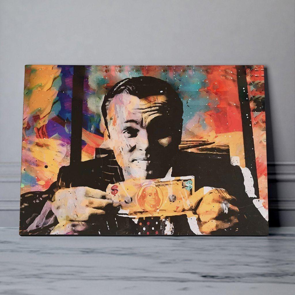 Wolf Of Wall Street Painting Wall Street Art Etsy Wall Art Abstract Canvas Wall Art